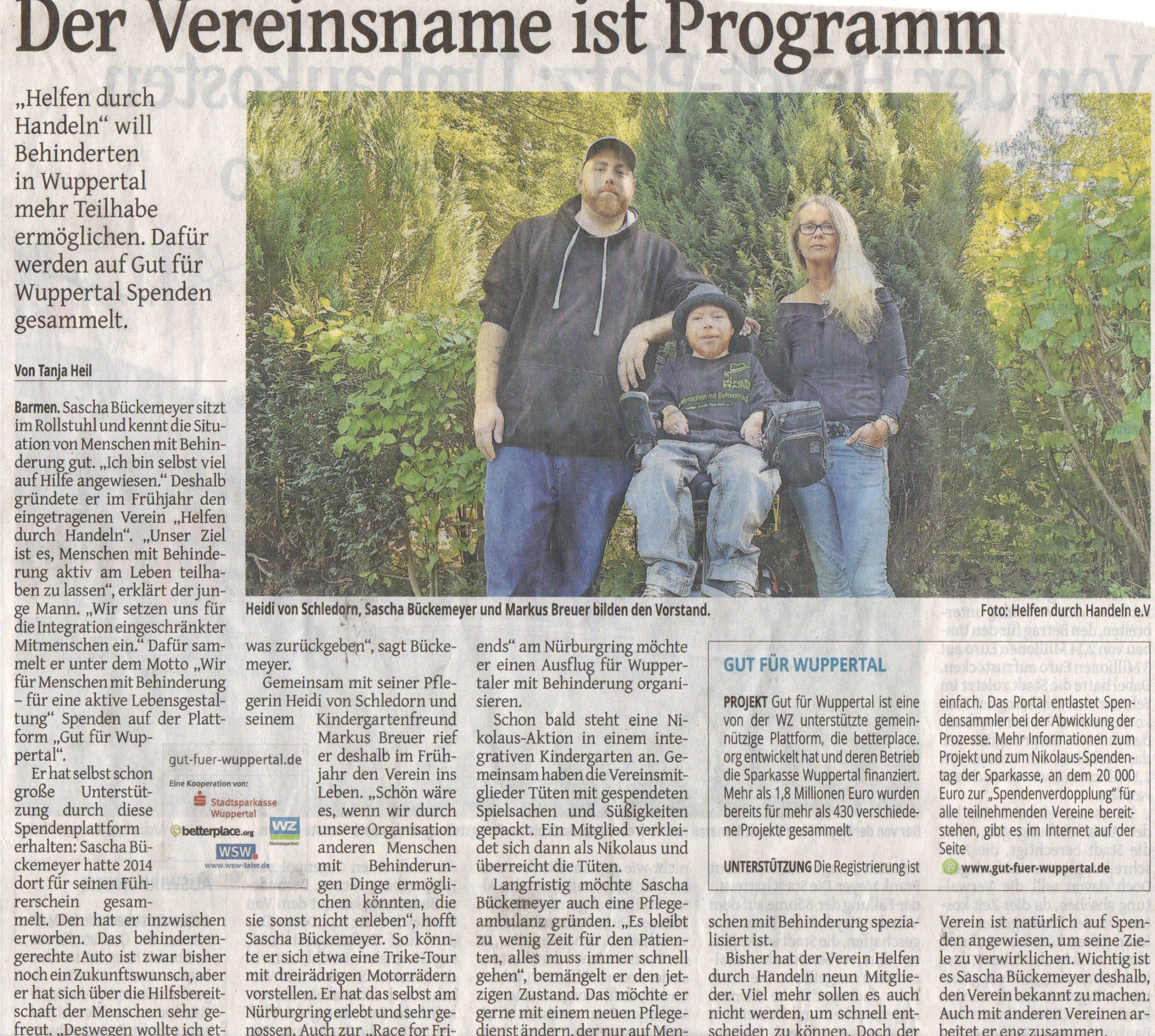 Unser erster Zeitungsartikel